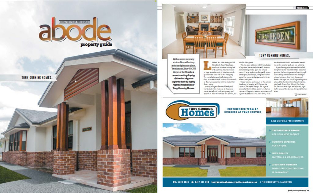 tony gunning homes focus feature