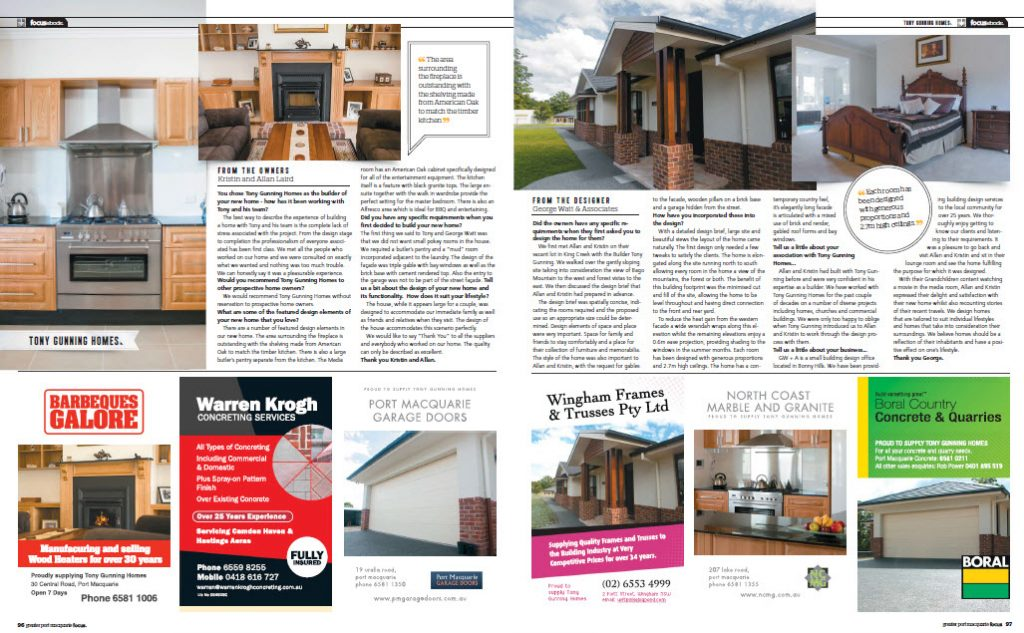 tony gunning homes focus magazine